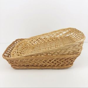 Vintage Light and Dark Wicker Basket Casserole Set